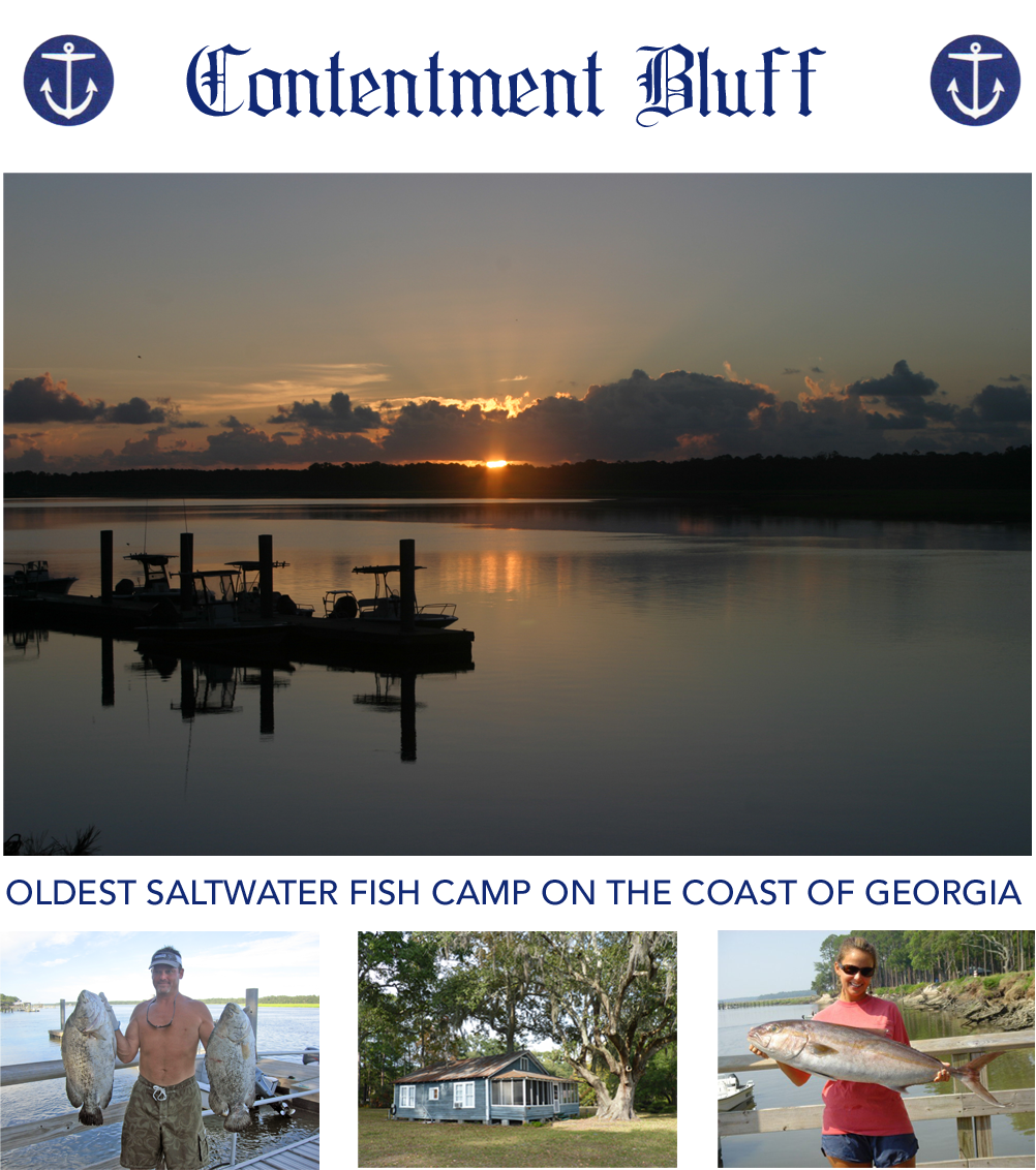Contentment Bluff Oldest Saltwater Fish Camp In Georgia Mcintosh County